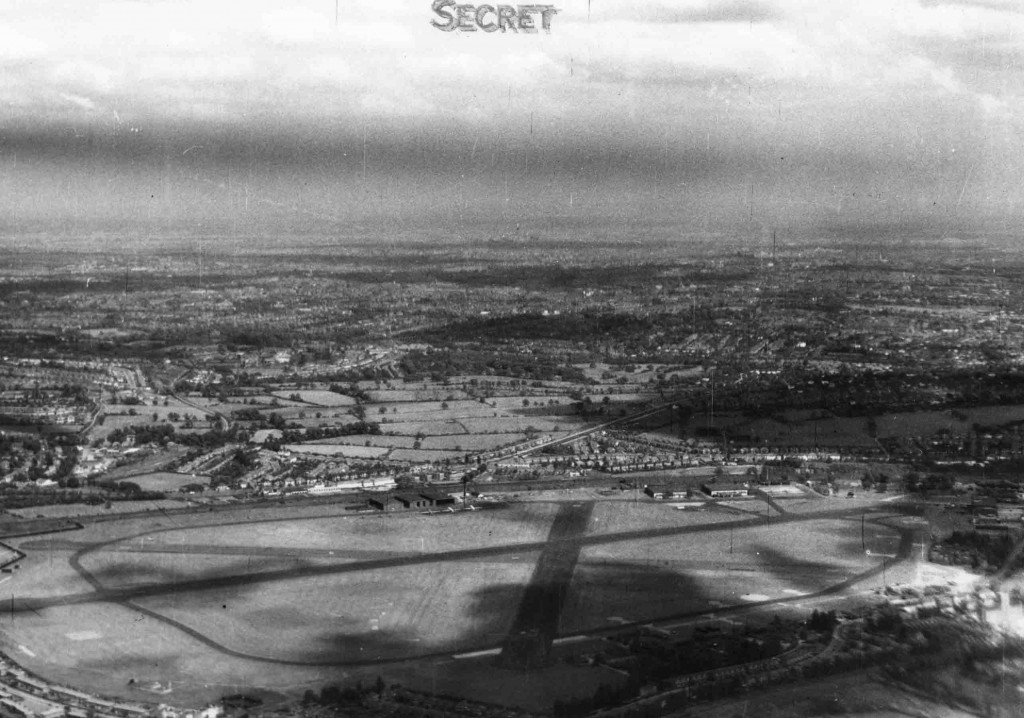 Photograph of the runway layout that existed @ Hendon Aerodrome.