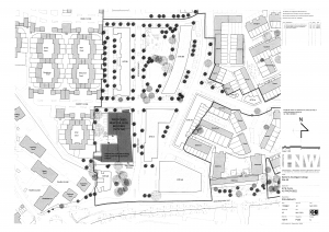Plans showing where the new Barnet College campus would be sited.