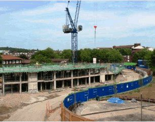 Image of the building site at the Grahame Park regeneration site.