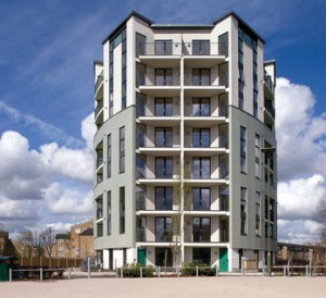 """Photograph of """"The Tower"""" from New Hendon Village."""
